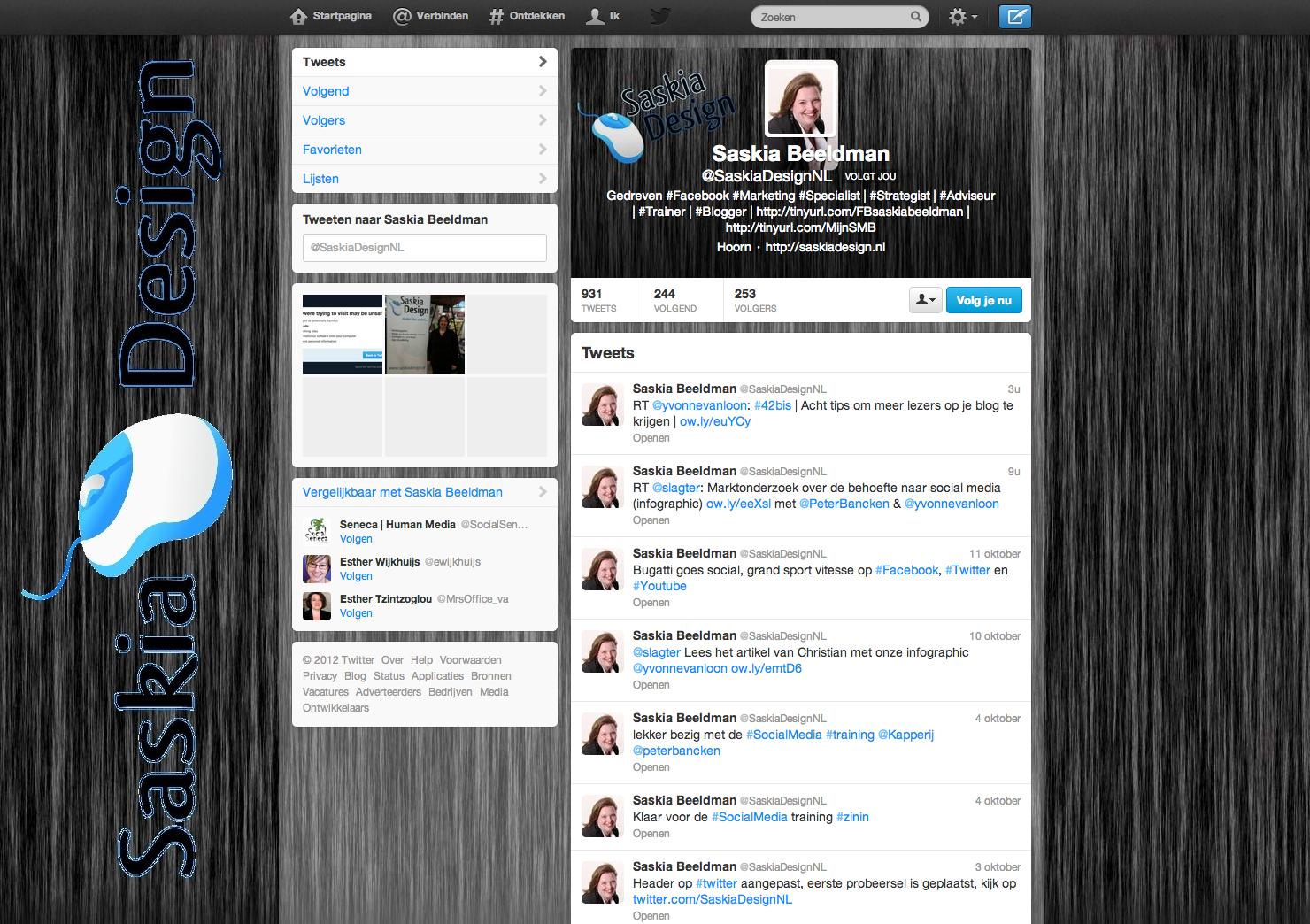 Twitter @SaskiaDesignNL